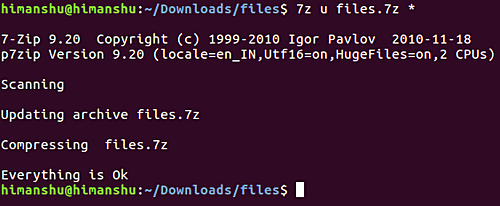 добавление файла к zip-архиву